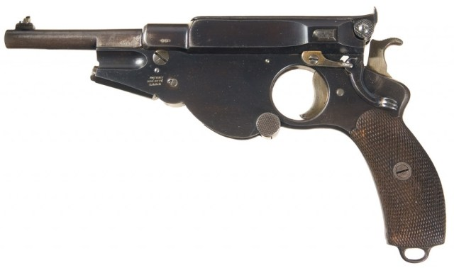 Bergmann No.4 pistol in 8x22mm Bergmann
