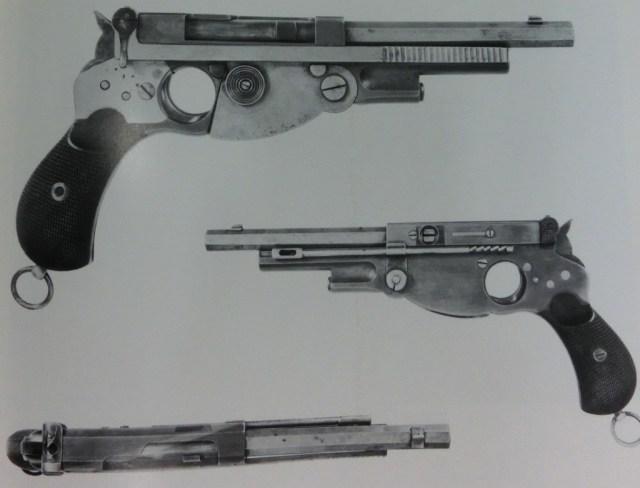 Bergmann model 1893 pistol, made for Swiss trials