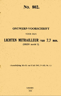 Bren MkI manual (Dutch,1943)