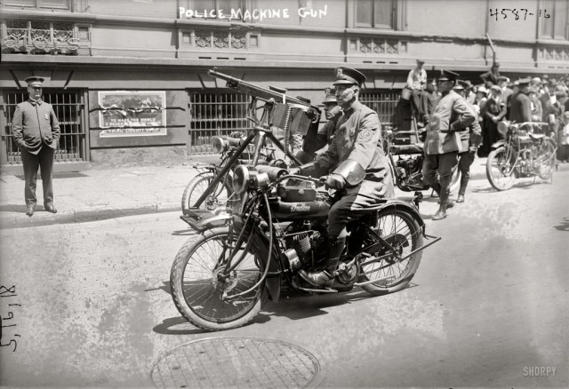 NYPD traffic motorcycle policeman  Indian cycle. May 18, 1918