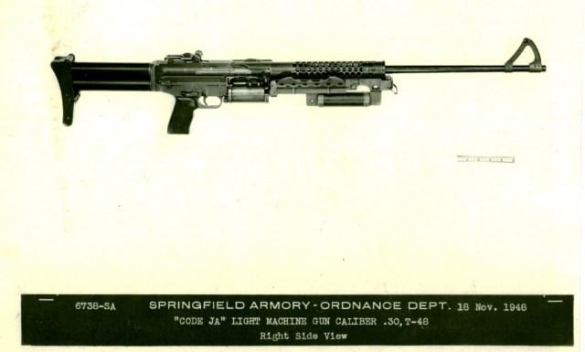 Johnson prototype T48 belt-fed LMG