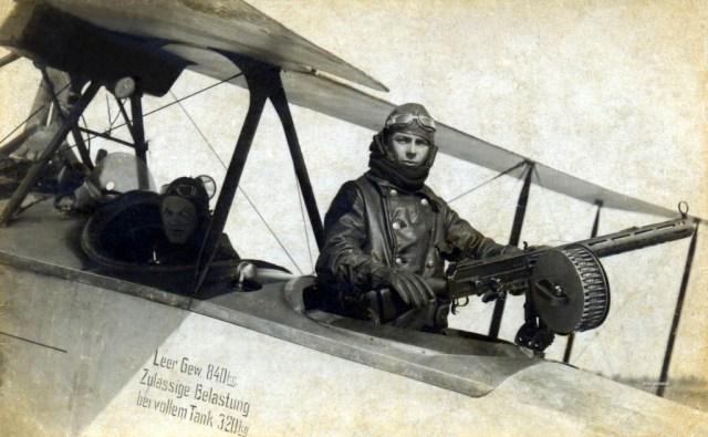 Parabellum 1914 MG in gunnery school, Belgium, 1918
