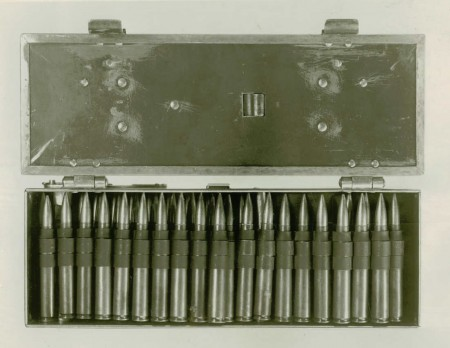 Browning 1919 experimental belt box - loaded