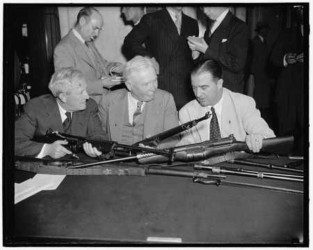 Senators inspect Johnson rifles