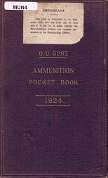 O.U. 5267 - UK Ammunition Pocket Book (English, 1926)