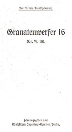 Granatenwerfer 16 manual (German)