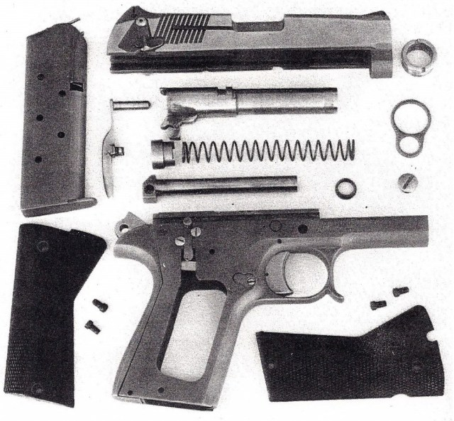 Mossberg CAC Combat Model .45 disassembled