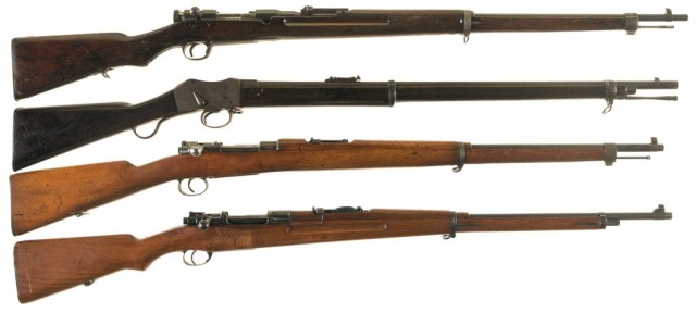 Milsurp rifles - note the unmodified Type 46 Siamese Mauser at the bottom