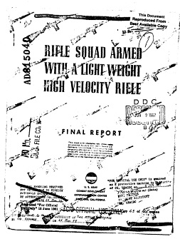 Rifle Squad Armed with a Lightweight High Velocity Rifle (English, 1959)