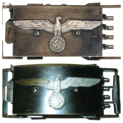 Nazi belt buckle pistol comparison