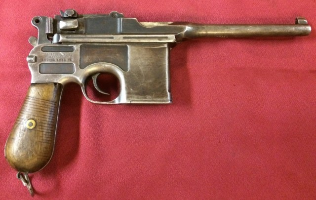 Mauser C96 with Chinese replacement frame, right side