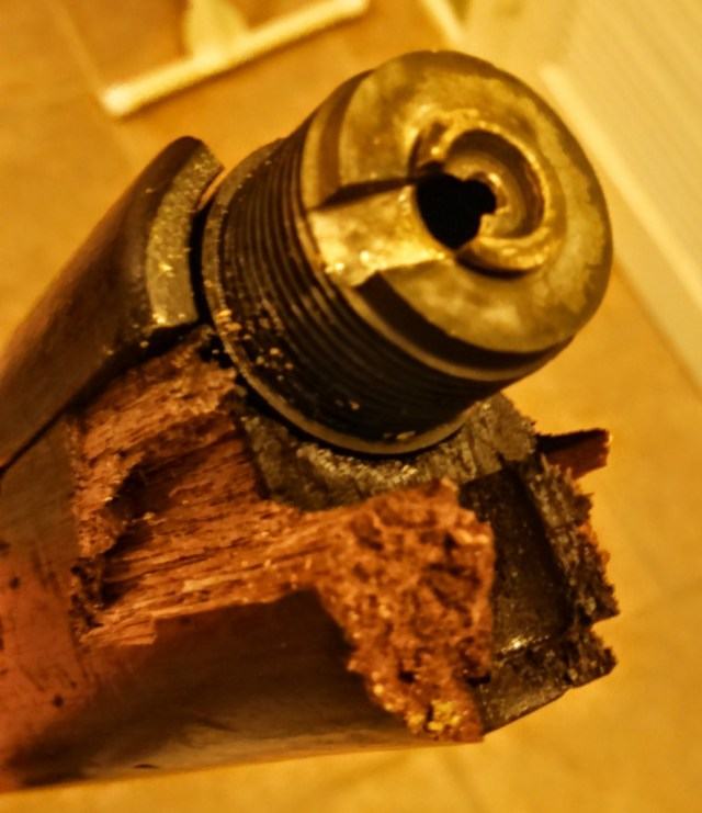 Exploded 1895 Lee Navy barrel