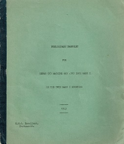 Hefah V Machine Gun Preliminary Manual (English, 1943)