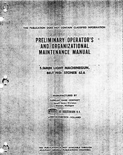 Stoner 63 LMG Manual (English)