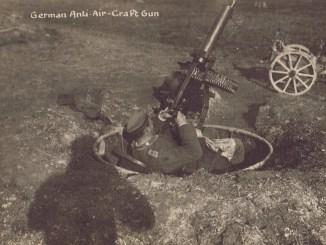 German Maxim in antiaircraft mounting