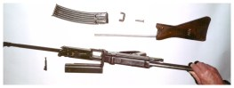 Horn rifle disassembled
