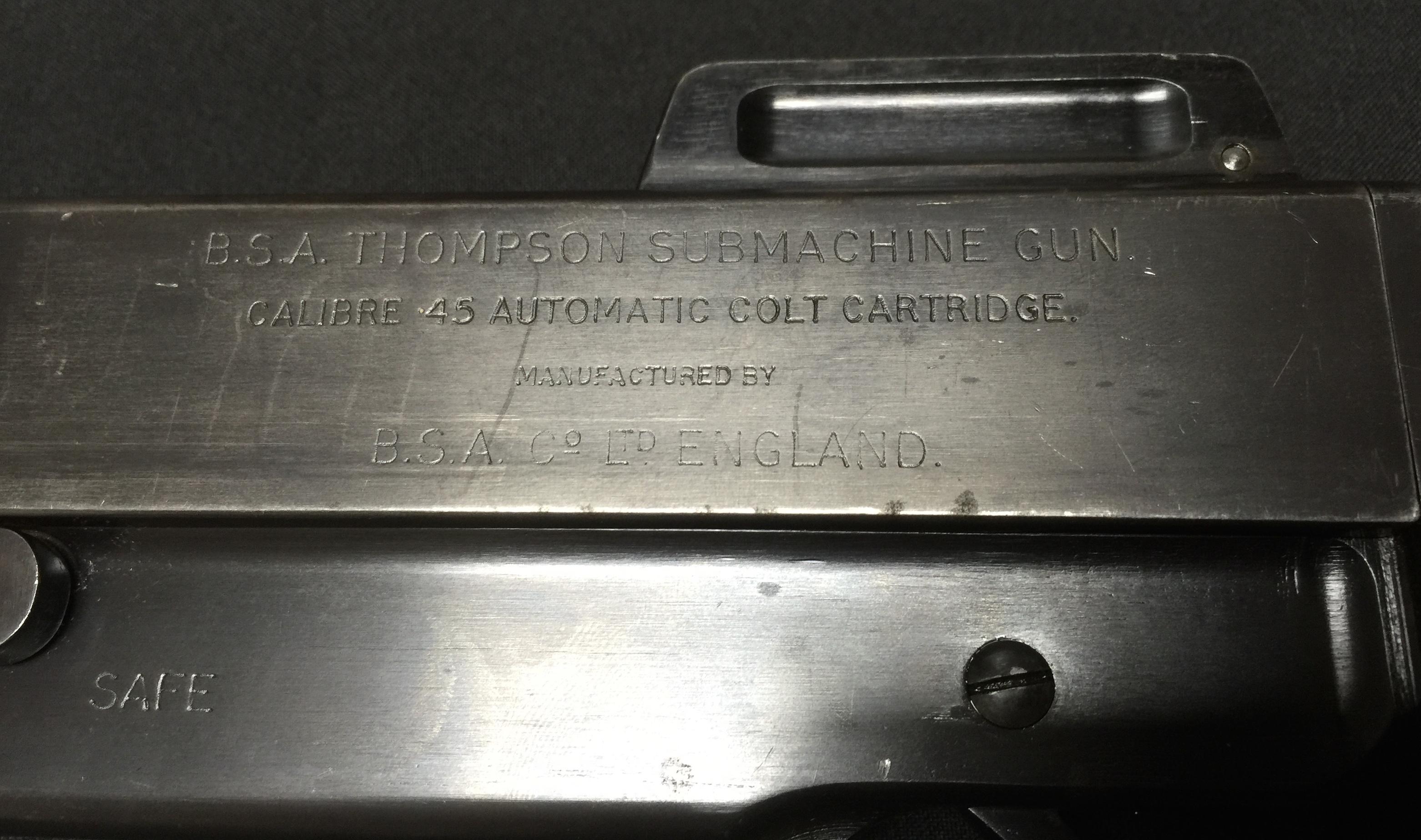 BSA 1926 & 1929 Thompson SMGs – Forgotten Weapons