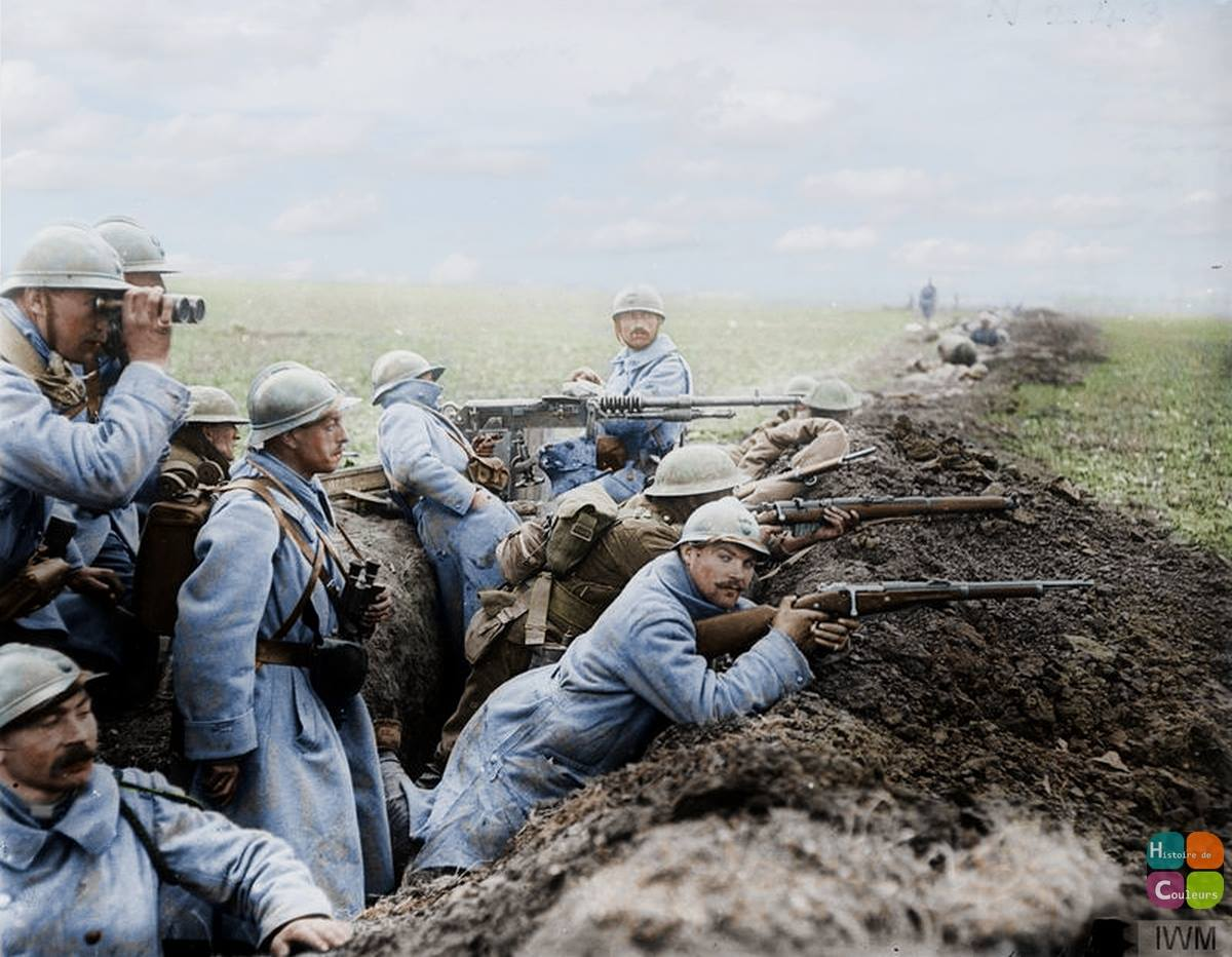 French and British troops on the Somme, 1918