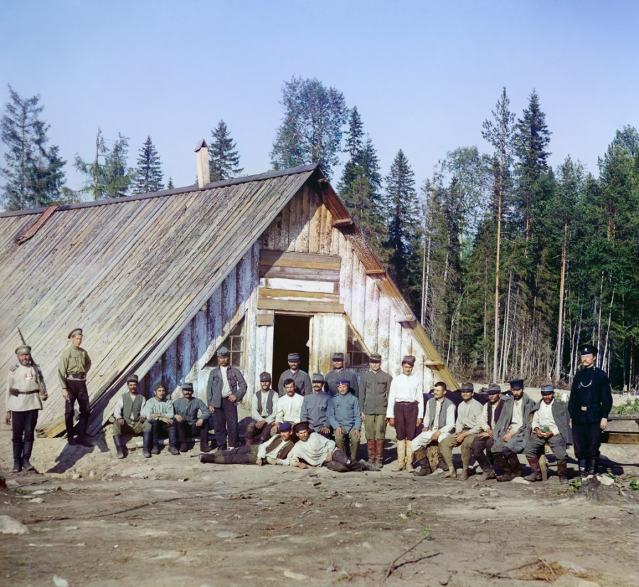 Austrian prisoners in Murmansk, 1916