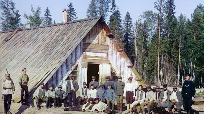Austrian prisoners in Murmansk, 1916