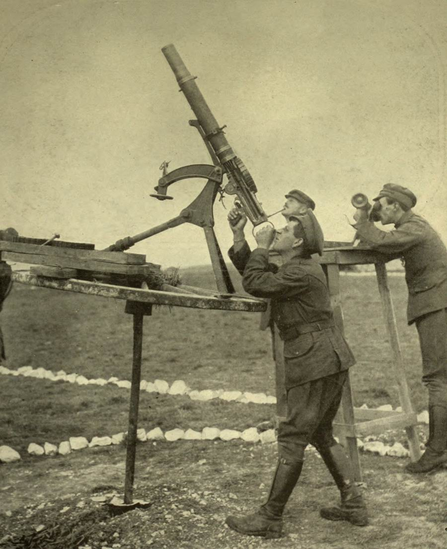 Lewis LMG used in an anti-aircraft role