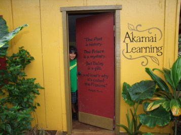 The door to Akamai Learning in Kilauea. Photo by Anne E. O'Malley