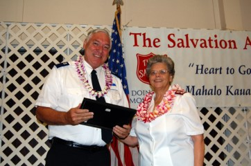 Hanapepe Salvation Army Outstanding Volunteer of the Year Jim Waldrep