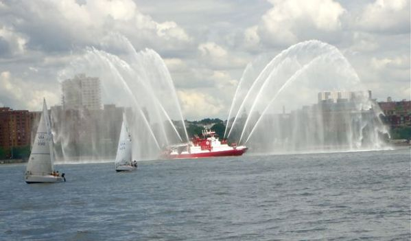 It was led by an NYFD boat.