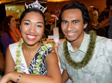 Miss Kaua`i 2012 Lei U`i Kaholokula and her brother, Baron