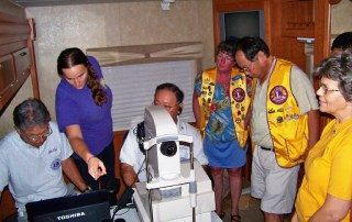 Receiving retinal screening training