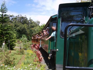 On the Kaua`i Plantation Railway