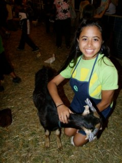 Christina Pico volunteered her time through the INTERACT CLUB of Kapa`a High School to help in the petting zoo at the 2011 Fair. Photo by Anne E. O'Malley