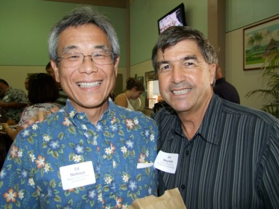 Ed Nakaya (l) and Jim Mayfield