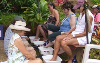Lomilomi foot massage