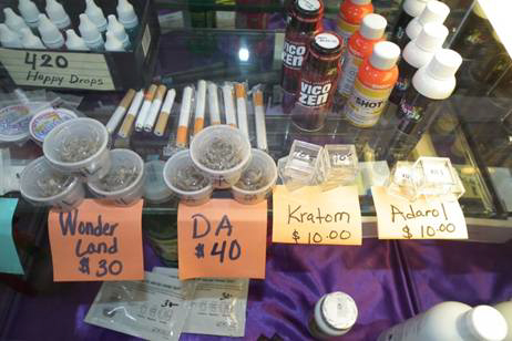Synthetic cannabinoids, synthetic ecstasy and synthetic cocaine were seized Monday from the Dream Electronic Cigarette shop in Līhu'e.