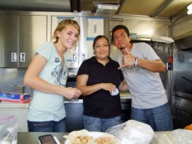 Bailee McCune, Tonita Benitez and Paco Aguilar worked Paco's Tacos.