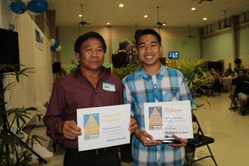 Youth Leadership award to Benjie Baclig