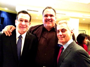 Mayor Bernard Carvalho, Jr. (center) met Connecticut Gov. Dannel Malloy (left) and Chicago Mayor Rahm Emanuel (right) at the 81st Winter Meeting of the U.S. Conference of Mayors held in Washington D.C. last month.