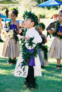 Children perform for the Queen in the Kanaloahuluhulu Meadow in Koke`e State Park in West Kaua'i. The festival is from 10 a.m. to 4 p.m. Oct. 12. Photo by Kay Koike
