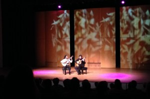 Brasil Guitar Duo, comprised of João Luiz and Douglas Lora, performed at the Performing Arts Center at Kaua'i Community College March 9.