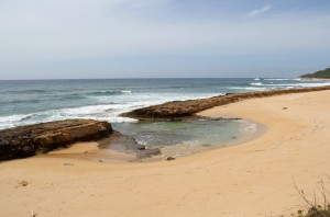 This pristine Westside beach by the Pacific Missile Range Facility is off limits even to those who reside inside the base. An apparently man-made breach in the coral barrier created this small cove where turtles and the occasional Hawaiian monk seal like to hang out.