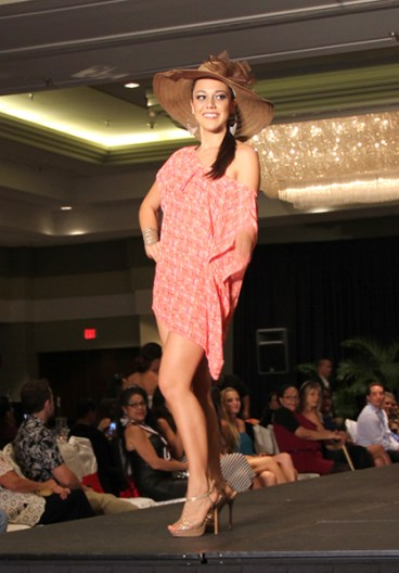 Stephanie Steuri at the Filipino Chamber of Commerce Fashion Show in April.