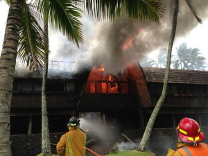 The fire at Coco Palms reportedly started at 11:58 a.m. on Fourth of July, and was deemed under control by 2:15 p.m.