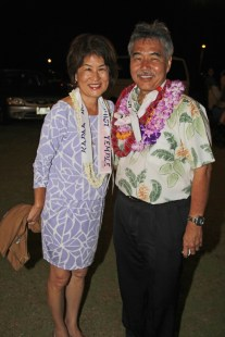 David Ige and his wife, Dawn Ige.