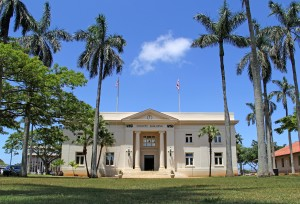 The 101-year-old Historic County Building in Lihu'e is where Kaua'i County Council members meet weekly to craft new laws or fine-tune existing ones. The public is always welcome to attend and share testimony.