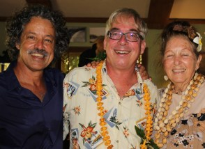 Kamal Salibi of Lihu'e, left, Hank Curtis of Wailua and Fran Nester of Lawai.