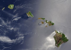 MODIS Image of Hawai'i, NASA Earth Observatory