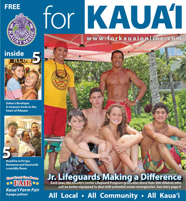 For Kauai August 2014 Cover, Jr. Lifeguards