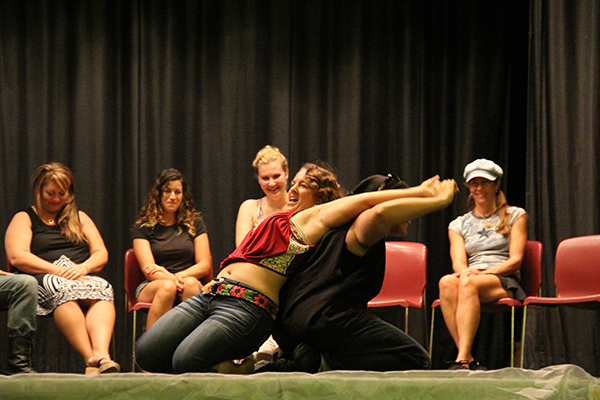 Menehune dance under hypnosis