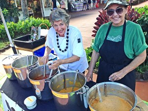 Hanapepe Café's Chef Helen Lucono, left, and Gail Little, usually offer their delicious soup during the farmers's market at The Shops at Kukui'ila in Po'ipu every Wednesday. Or you can visit Hanapepe Café, which only opens during Hanapepe Art Walk Friday evenings.
